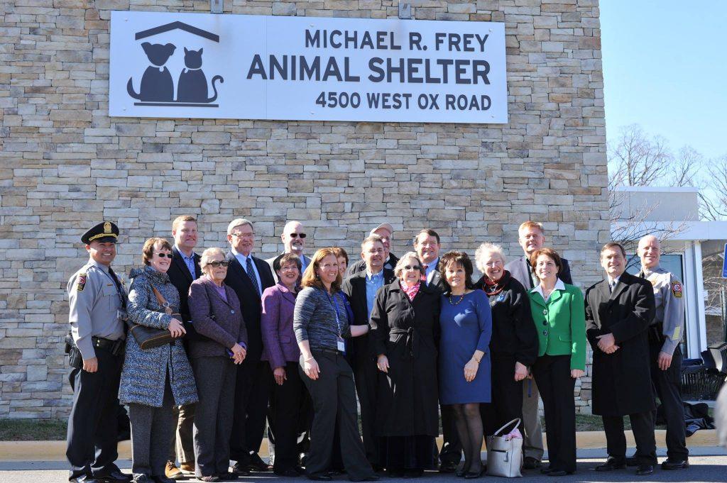 Michael R. Frey Animal Shelter Dedication Group Photo